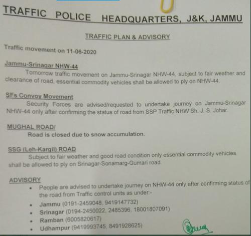 Srinagar Jammu NHW-44