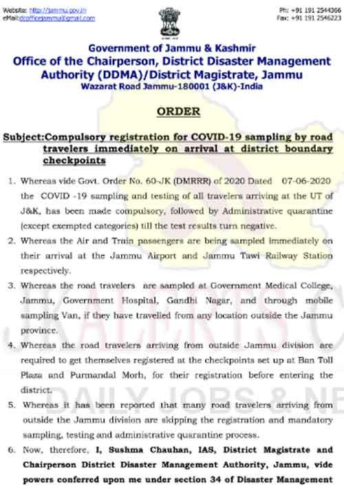 Covid-19 ,sampling compulsory, road, travelers arriving.
