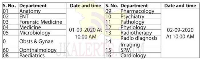 GMC Srinagar Interview Re-Scheduling.
