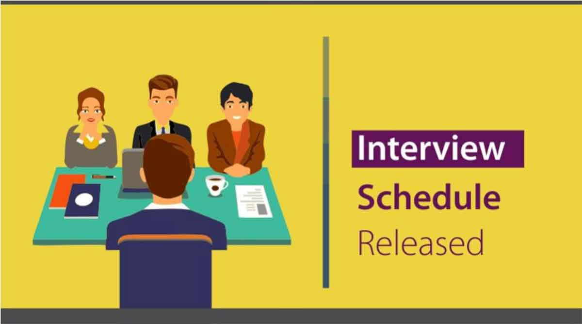Govt. Ayurvedic Medical College Jammu Interview Schedule.