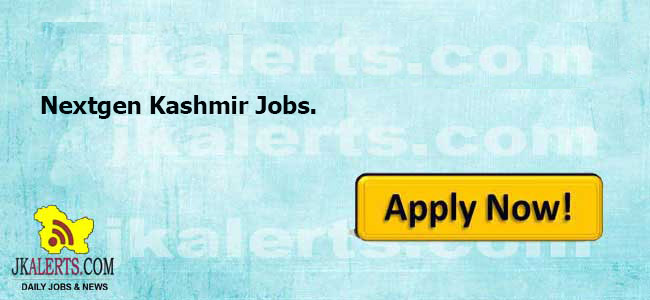 Nextgen Kashmir Jobs Recruitment 2020.