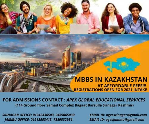 MBBS in Kazakhstan , MBBS in affordable fees, MBBS Registrations open for 2021 intake.