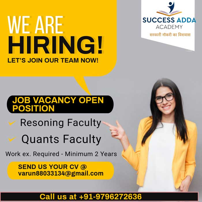 Success Adda Academy Jammu, jobs, Jammu Jobs