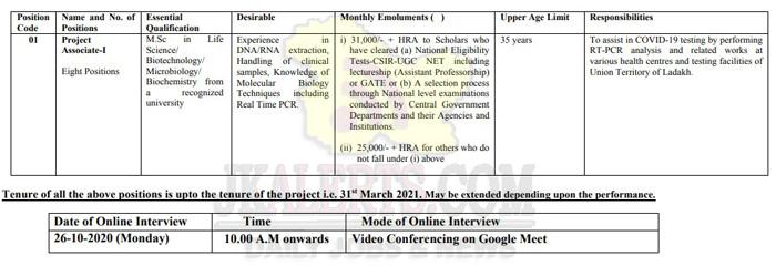 CSIR IIM Jammu Project Associate I Jobs Recruitment 2020.