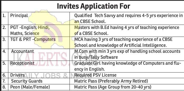 Mount Litera Zee School MLZS Jammu Jobs Recruitment.