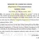 Temporary suspension of Telecom Services shall not be in operation for more than 15 days