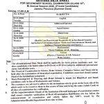 JKBOSE Class 10th Private Jammu Revised Date sheet.