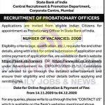 SBI PO Job Recruitment 2020 2000 vacancies.