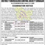 District TB Control Society Srinagar written test schedule.