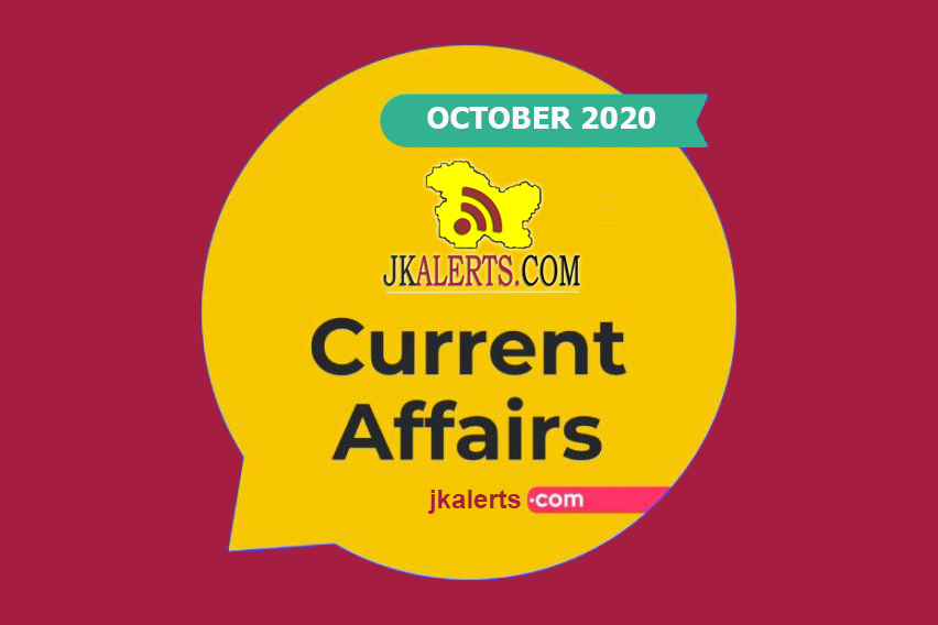 Current Affairs for JKSSB Accounts assistant and Class ivth and other Exams.