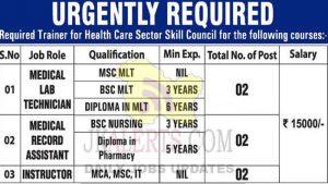 Modern Institute of Healthcare Srinagar Jobs.