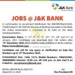 J&K Bank Banking Associates Examination Dates.J&K Bank Announces Banking Associates Examination Dates,J&K Bank Exams Dates, J&K Latest Notification,J&K Bank Exams Update,