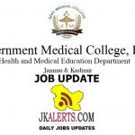 GMC Doda Jobs Recruitment 2021 Senior Resident posts.