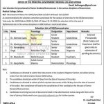 GMC Kathua Selection list (provisional) of Junior Residents.