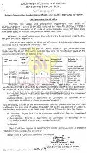 JKSSB for Agriculture Dept. Posts deferred/withdrawn.
