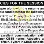 Cambridge International School Jammu Jobs 2021.