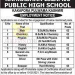 Kahkashan Islamic Public High School Pulwama Jobs.