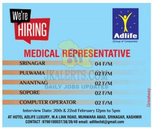 Medical Representative Jobs in Kashmir