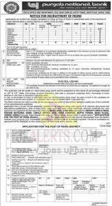 PNB Jammu Jobs Recruitment 2021.