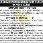 ECHS Polyclinic Doda jobs recruitment 2021.