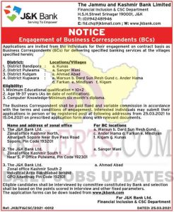 JKBANK-Jobs-Recruitment-2021--Business-Correspondents-posts