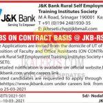 JK BANK Jobs Recruitment 2021.