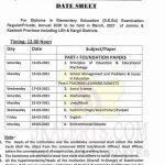 JKBOSE D.E.Ed Date Sheet 2021.
