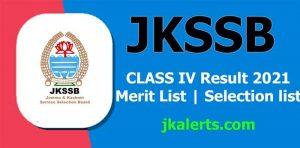 JKSSB Class IV Result update.