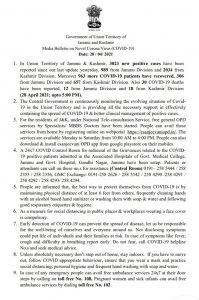 JK Today COVID19 Update 28 April 2021.