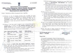 5 locations in Jammu declared as micro containment zones.