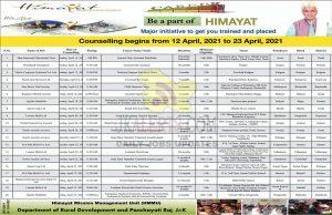 Himayat Counselling begins in J&K.