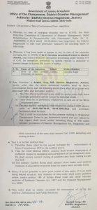 Jammu University Postponed exams and Offline Classes.