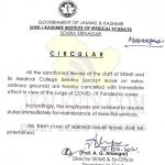 SKIMS cancelled all sanctioned leaves.