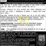 Army Dental Corps  Jobs Recruitment 2021.