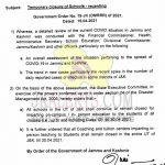 J&K Schools/Coaching and Tuition Centers Closed.