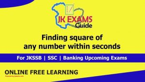 Finding square of any number within seconds JK Exams Guide.
