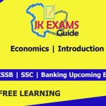 Economics | Introduction | JKSSB Account Assistant.