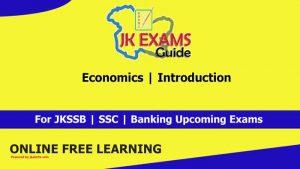 Economics | Introduction | JKSSB Account Assistant.