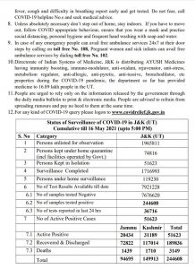 J&K COVID 19 Update 4141 new cases reported.