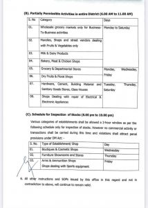 Jammu Distict revised guidelines till 31 May 2021.