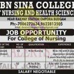 IBN SINA College of Nursing Jobs