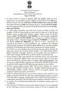 JK Covid19 update 15 may 2021