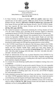 JK District Wise COVID 19 Update 4 may 2021.