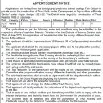 J&K Fisheries Department notification for Unemployed Youth.