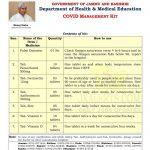 J&K Health and Medical Education COVID Management Kit.