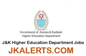 J&K Higher Education Department Jobs Recruitment 2021