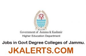 Jobs in Govt Degree Colleges of Jammu.