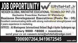 Whitehat Jr Srinagar jobs recruitment 2021.