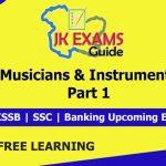 Musicians & Instruments | Part 1 | JKSSB Account Assistant | Free Classes.