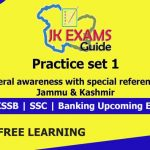 General awareness with special reference to Jammu & Kashmir. Important Question for Upcoming JKSSB Exams.